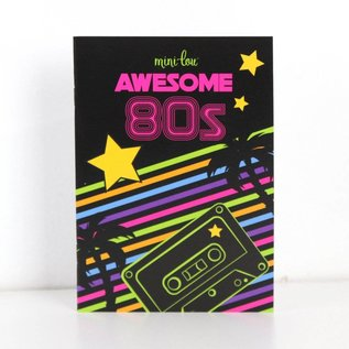 MiniLou Awesome 80s Coloring Book