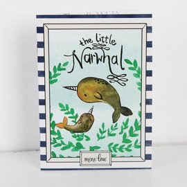 MiniLou Little Narwhal Coloring Book