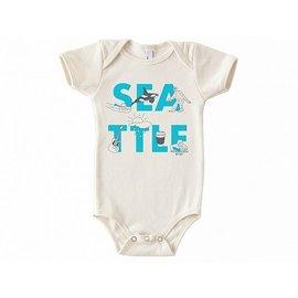 Maptote Seattle Font Onesie 6-12 Months
