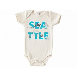Maptote Seattle Font Onesie 3-6 Months