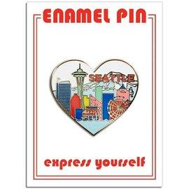 The Found Seattle Skyline Heart Enamel Pin