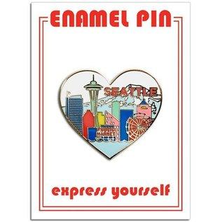 The Found Enamel Pin - Seattle Skyline Heart