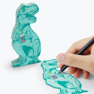 Mustard T- Rex Sticky Notes