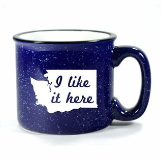 Bread and Badger WA I Like It Here Navy Camp Mug