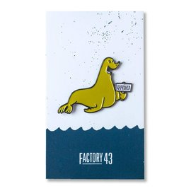 Factory 43 Seal of Approval Enamel Pin