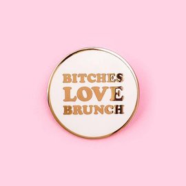 Little Arrow Bitches Love Brunch Enamel Pin