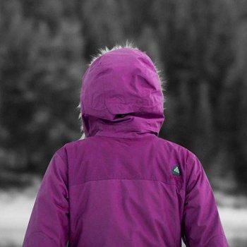 Purple Arcteryx Covert Hoody Women's