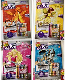 CRAYOLA - Color Alive Coloring Book & Crayons, Skylander