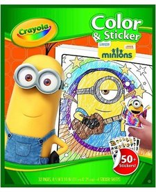 CRAYOLA - COLOR & STICKER PAGES -MINIONS