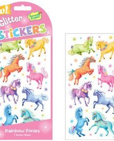 Glitter Stickers - ponies