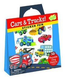 PEACEABLE KINGDOM: Reusable Sticker Totes - Cars and Trucks
