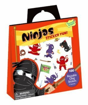 PEACEABLE KINGDOM:  Reusable Sticker Totes - Ninjas