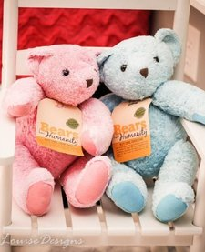 """BEARS FOR HUMANITY - """"SASSIE"""" LARGE PINK BEAR"""