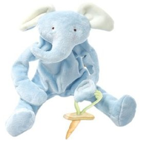 BUNNIES BY THE BAY: Peanut the Elephant Silly Buddy - Blue Pacifier Clip
