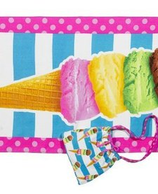3 CHEERS FOR GIRLS: ICE CREAM BEACH TOWEL AND BAG