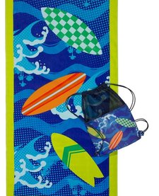 3 CHEERS FOR GIRLS: SURF'S UP BEACH TOWEL AND BAG