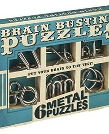 Brain Busting Set of 6 Metal Puzzles