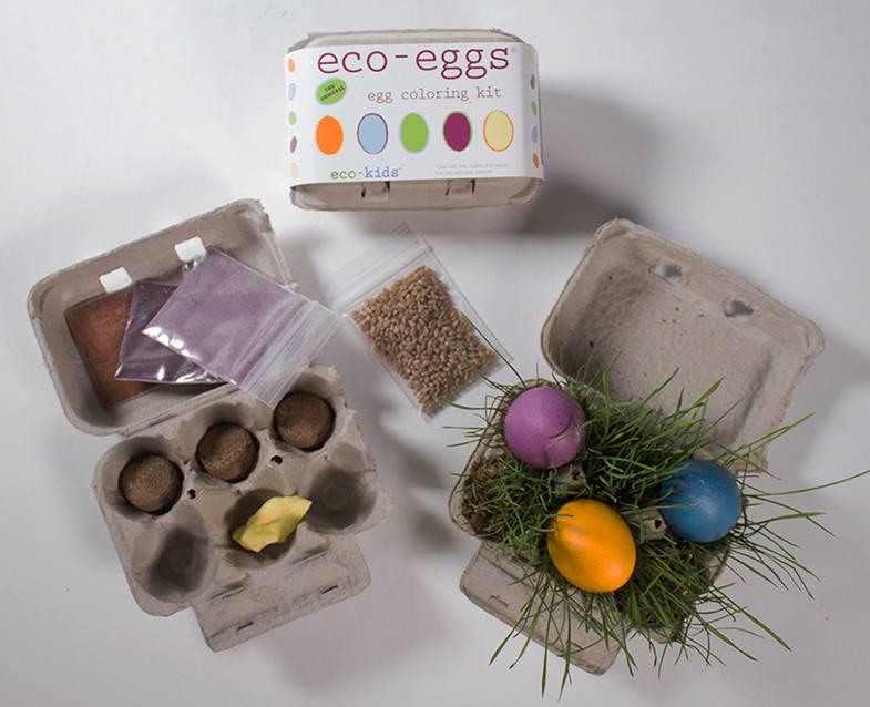 ECO-KIDS ECO-KIDS: ECO-EGGS COLORING AND GRASS GROWING KIT