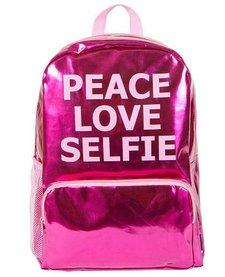 FASHION ANGLES: PEACE LOVE SELFIE BACKPACK