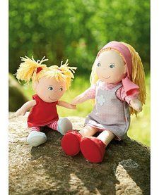 "HABA: Doll Sisters Lennja, 12"" & Elin, 8"