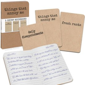ACCOUTREMENTS GRUMP NOTEBOOKS