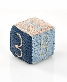 BLUE TOY BLOCK RATTLE