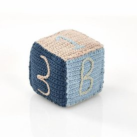 PEBBLE BLUE TOY BLOCK RATTLE