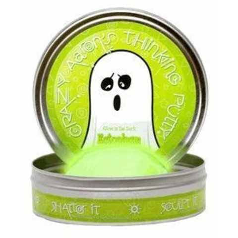 "CRAZY AARON'S THINKING PUTTY: ECTOPLASM GLOW IN THE DARK 4"" TIN"