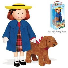 "Madeline Poseable 8"" Vinyl Doll with Genevieve 4"" Soft Toy in Take Along Package"