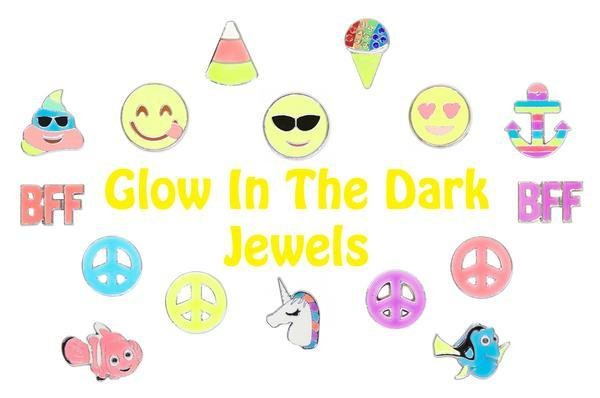 AMERICAN JEWEL PURSE CHARMS - GLOW IN THE DARK/EMOJI (ASST)