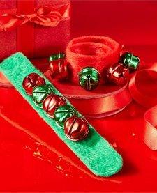 JINGLE BELLS SLAP BRACELET (RED OR GREEN)