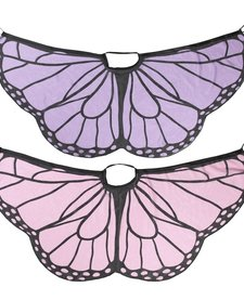 GANZ:  BUTTERFLY WINGS/CAPE (PINK OR PURPLE ASSORTED)