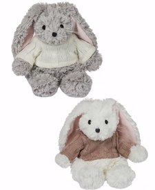 GANZ:  FRANNIE SWEATER BUNNY (GREY OR WHITE ASST)