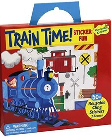 PEACEABLE KINGDOM: TRAIN TIME REUSABLE STICKER TOTE