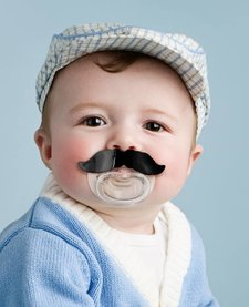 FRED AND FRIENDS:  CHILL BABY MUSTACHE PACIFIER
