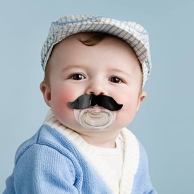 FRED AND FRIENDS FRED AND FRIENDS:  CHILL BABY MUSTACHE PACIFIER