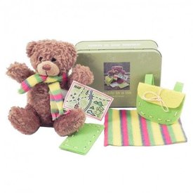 APPLES TO PEARS: TEDDY IN A TIN TRAVEL BEAR