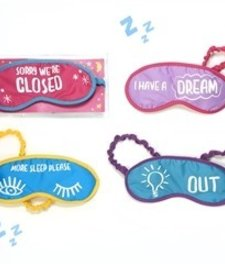 TWO'S COMPANY:  SAY SOMETHING SLEEP MASK GLOW IN THE DARK (ASST)