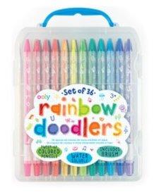 OOLY:  RAINBOW DOODLERS TWIST UP COLORED PENCILS (SET OF 36)