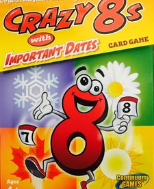 CRAZY EIGHTS WITH IMPORTANT DATES CARD GAME