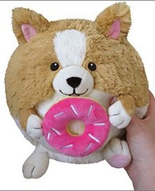 "SQUISHABLE: Mini Corgi w/ Donut (7"")"