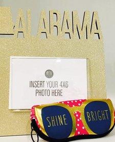 ANN PAGE:  ALABAMA GOLD GLITTER FRAME