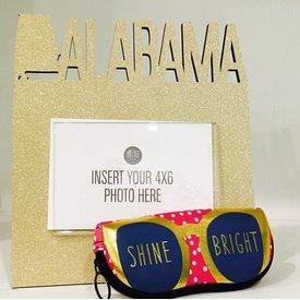 ANN PAGE ANN PAGE:  ALABAMA GOLD GLITTER FRAME