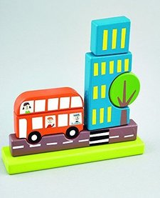 FLOSS AND ROCK:  MAGNETIC WOODEN TRANSPORTATION PUZZLE