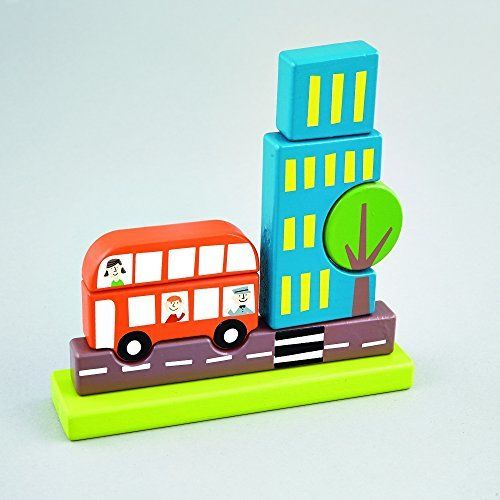FLOSS AND ROCK FLOSS AND ROCK:  MAGNETIC WOODEN TRANSPORTATION PUZZLE