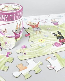 FLOSS AND ROCK:  BUNNY JIGSAW (48 PC)