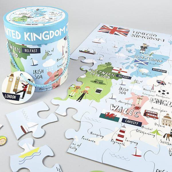 FLOSS AND ROCK FLOSS AND ROCK:  UNITED KINGDOM JIGSAW (48 PC)