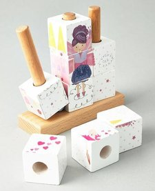FLOSS AND ROCK:  FAIRY WOODEN CUBE PUZZLE
