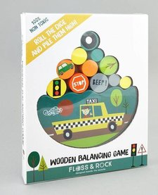 FLOSS AND ROCK:  WOODEN BALANCING GAME - TRANSPORT
