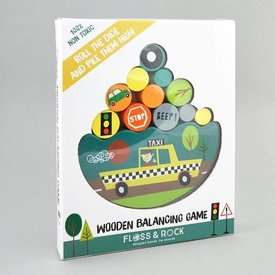 FLOSS AND ROCK FLOSS AND ROCK:  WOODEN BALANCING GAME - TRANSPORT